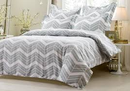 5pc grey white zig zag duvet cover set style 1016 cherry hill collection