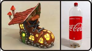 Diy Fairy Boot House Lamp Using Coke Plastic Bottle Usefuldiycom