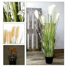 Künstliche Pflanzen Pampasgras Inkl. LED Beleuchtung U0026 Timer   Kunstblumen  Gras