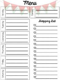 Meal Planning Sheets Editable Meal Planning Templates