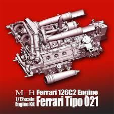 1:12 ferrari 126c2 engine kit tipo 021. 1 12 Ferrari 126c2 Engine Kit Tipo 021 Mfh Ke007 Model Factory Hiro