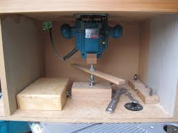 router table box with d i y lift