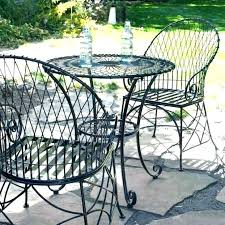 black wrought iron round patio table black wrought iron patio furniture sets pickup only oh round