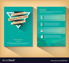 Flat Design Flyer Abstract Triangle Brochure Retro Flat Design