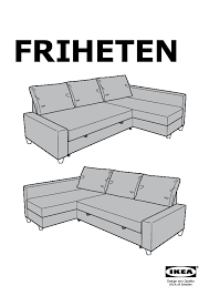 FRIHETEN Corner sofa bed Skiftebo dark grey IKEA United Kingdom