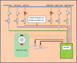 class 158 dcc conversion and lighting update circuit diagram for lighting and power car connections