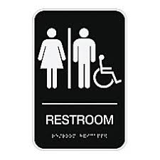 open house signs home depot. Cosco ADA Room Accessible Restroom Sign Open House Signs Home Depot