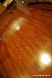 How To Make Hardwood Floors Shine WITHOUT Getting On Your Hands And Knees!  Microfiber Cleaning Slippers And Grabbed My Method Floor Cleaner.
