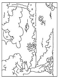 Kleurplaten Herfst In Het Bos
