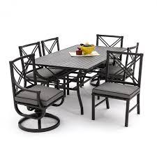 audubon 7 aluminum patio dining set with 2 swivel