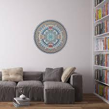 indian spiritual mandala wall art sticker on mandala wall art with indian spiritual mandala wall art sticker by vinyl revolution