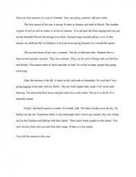 four seasons essay similar essays