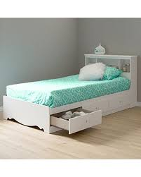 white twin storage bed. Contemporary Storage South Shore Crystal Twin Storage Bed And Bookcase Headboard Pure White With E