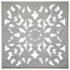white wood medallion wall art