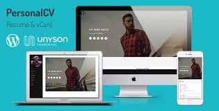 Personalcv Resume Vcard Wordpress Theme