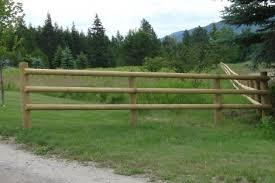 wood farm fence. Half-round Wood Fence. Farm Fence