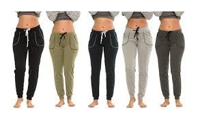 Coco Limon Womens Fleece Lined Joggers 5 Pack Plus Sizes Available