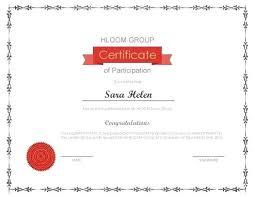 Certificate Of Participation Template Sample Vraccelerator Co