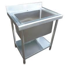 stainless steel single deep bowl sink