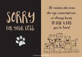 Card For Loss Of Pet Free Loss Of Dog Vector Card Welovesolo