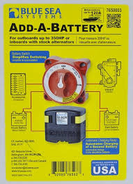 blue sea systems add a battery system with acr and switch p n 7650 Blue Sea Systems Battery Switch 4 Position Diagram blue sea systems 7650 add a battery system with automatic charge relay and battery switch Dual Battery Wiring Diagram