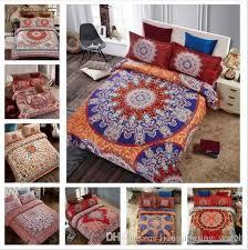 24 styles 3d bedding sets queen size bohemian mandala bedding quilt duvet cover set sheet pillow cover bedding set gifts cca8082 bohemian bedding sets