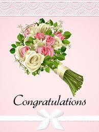 Rose Bouquet Congratulations Card Birthday Greeting