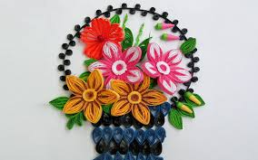 How To Make A Beautiful Flower With Paper Paper Quilling Art How To Make Beautiful Flower Basket Paper