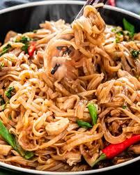 thai drunken noodles craving home cooked
