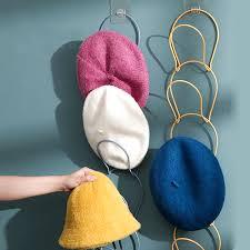 1set nordic iron hat storage rack wall