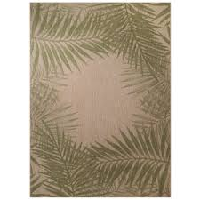 palm border 8 ft x 10 ft indoor outdoor area rug