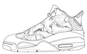 coloring pages jordan shoes coloring pages sheets page drawn shoe air 5 free retro 11 jordan