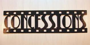 Small Picture Metal Wall Art Home Theater Decor Concessions Film Metal wall