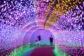 millions of led lights shine in e china