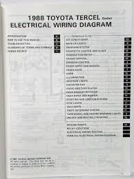 1988 toyota tercel sedan service shop repair manual & electrical 1997 Toyota Tercel Motor 1988 toyota tercel sedan service shop repair manual & electrical wiring diagram