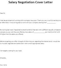 Salary Negotiation Counter Offer Letter Sample