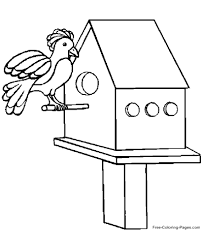 Bird on tree coloring page. Coloring Pages Of Birds