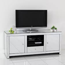 mirrored tv stand glass cabinet contemporary decor vintage unit inspirational tv stand oak effect