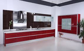 Red Kitchen Design Kitchen Design Ideas In Orange And White Theme With Orange Cabinet