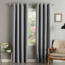 window treatments. Plain Window Aurora Home Thermal Insulated Blackout Grommet Top Curtain Panel Pair In Window Treatments E