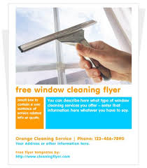 Flyer Programs Windows Free Window Cleaning Flyer Template Cleaning Flyers