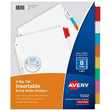 Avery 11901 Template Avery 11901 Template Awesome Avery 8 Tab Template Image