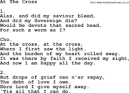 At The Cross Where I First Saw The Light Lyrics At The Cross Apostolic And Pentecostal Hymns And Songs