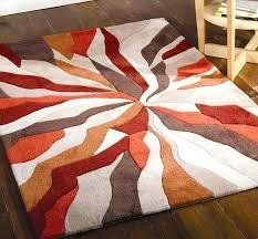 round orange rug splinter burnt orange rugs modern rugs