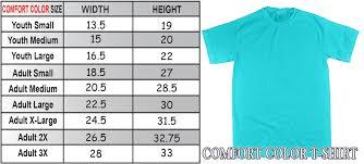 Comfort Color Sizing Charts Tees2urdoor California King Size