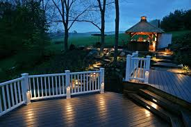 outside deck lighting. exquisite ideas outdoor deck lighting endearing railing designs outside r