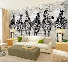 Beibehang Custom Wallpaper 3d Photo Paintings Retro Nostalgic Zebra