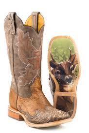 Tin Haul Mens Deerstalker Big Buck Sole Cowboy Boots
