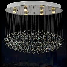 rectangular contemporary chrome crystal chandelier for living room dining room stair lights fixture rain drop pending
