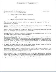 Employment Agreement Template Self Employed Contract Nanny